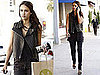 Pictures of Jessica Alba Wearing a Leather Vest in LA