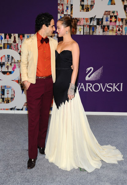 Zac Posen and Devon Aoki, dig the retro glam.