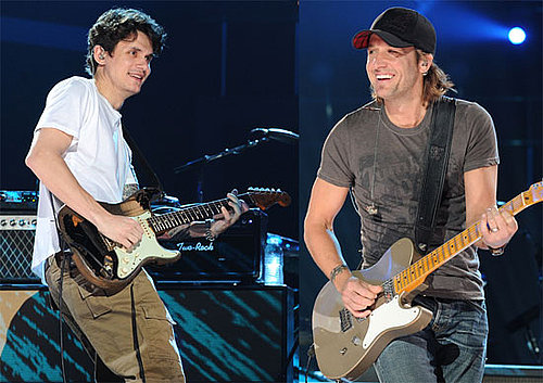 Pictures of John Mayer and Keith Urban Practicing Before the CMT Awards 2010-06-09 16:30:00