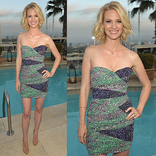 Pictures of January Jones in BCBG Dress for World Oceans Day