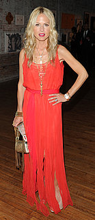 Rachel Zoe Wears Long Orange Dress to Whitney Art Party