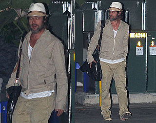Pictures of Brad Pitt Going to a Night Meeting in LA
