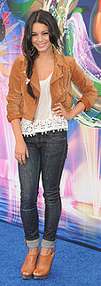 Vanessa Hudgens Wears Madewell Jacket and Joie Booties to Disneyland's World of Color