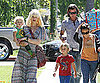 Slide Picture of Gwen Stefani, Gavin Rossdale, Kingston and Zuma at Birthday Party