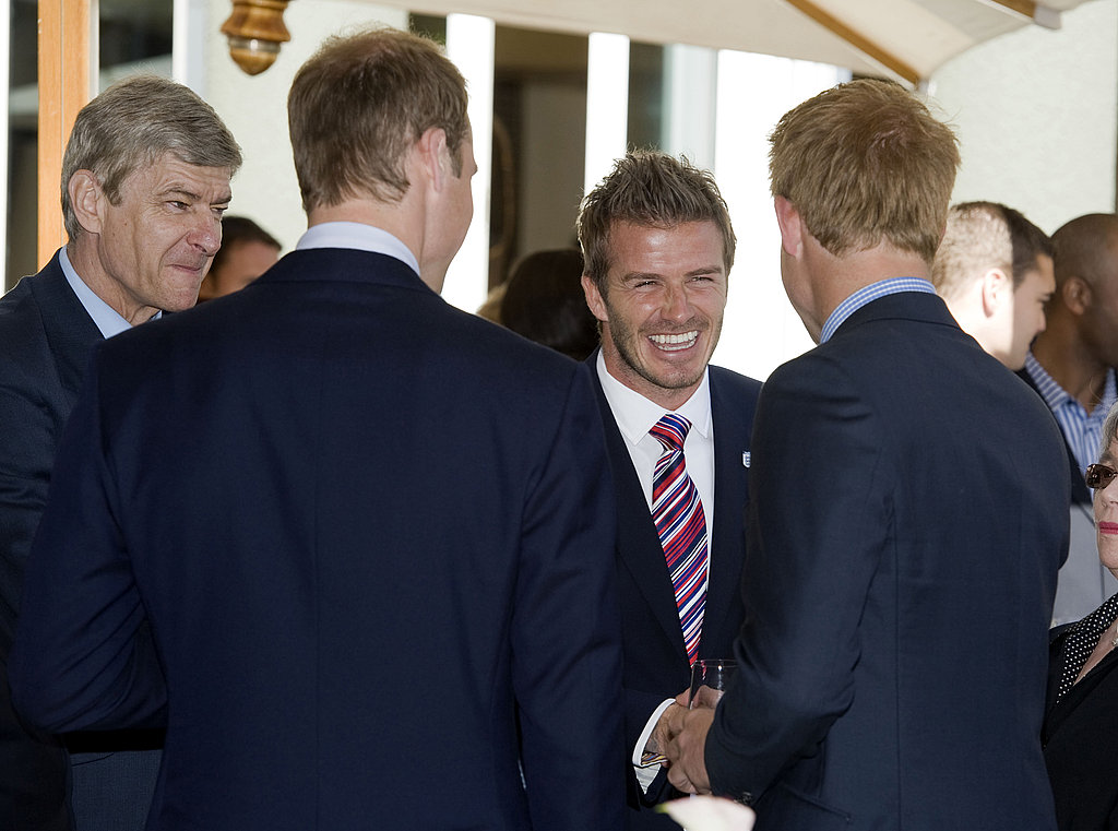 Pictures of David Beckham With Prince Harry and William