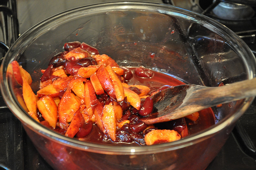 Berry Tempting: Peaches and Balsamic Cherries