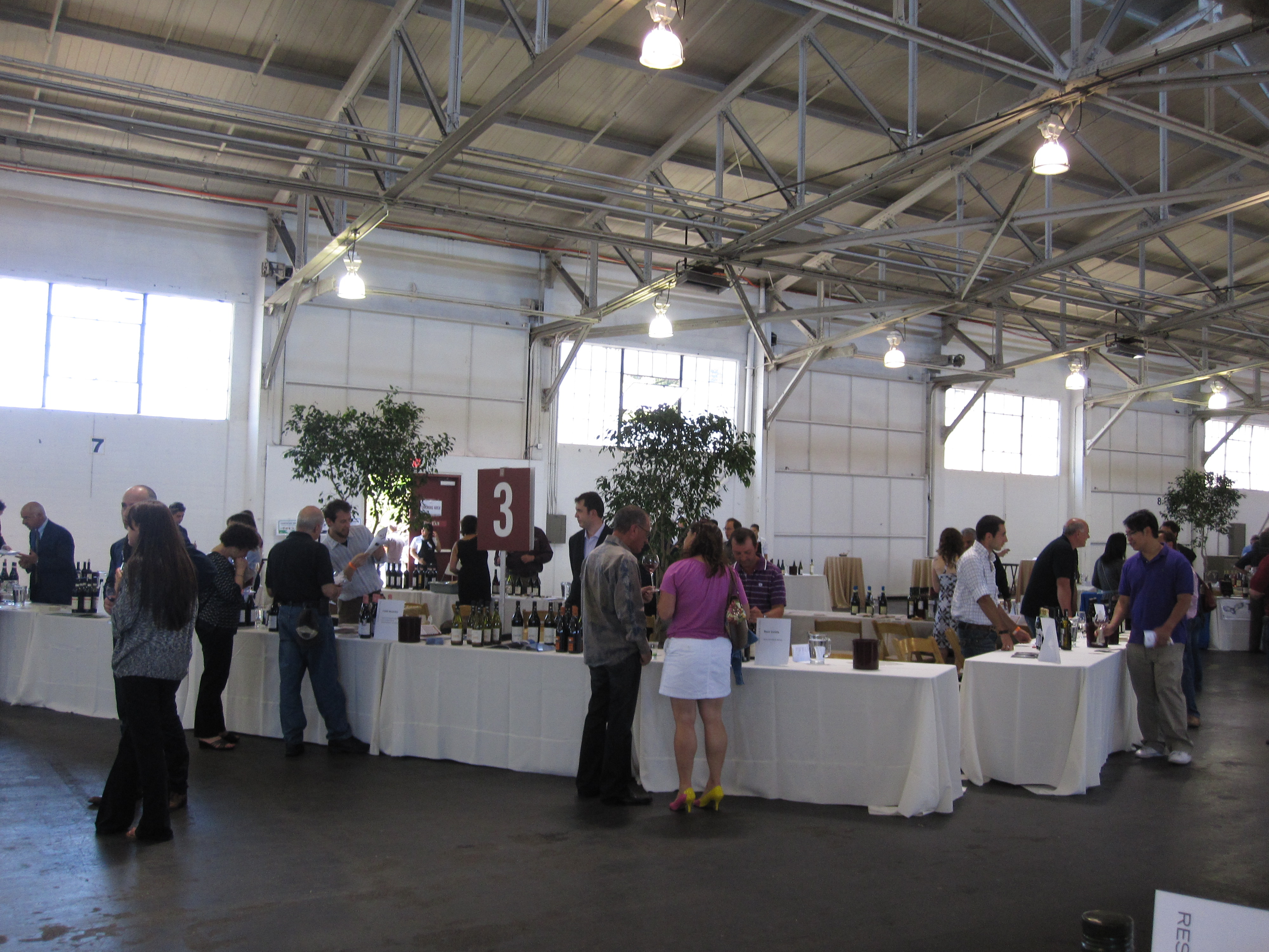 Unlike other wine tastings at Fort Mason, this one was not overcrowded.