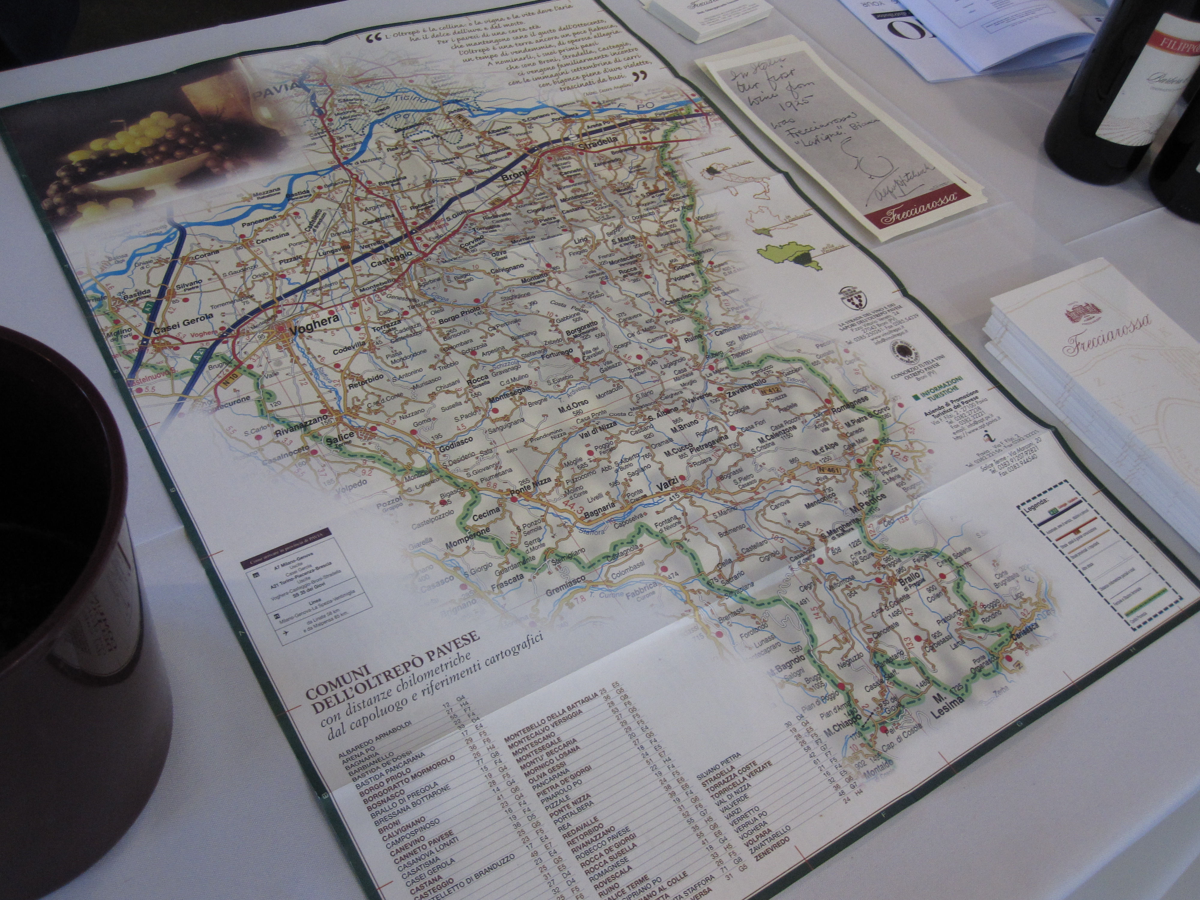Many of the wines were from wine regions I had never heard of. Luckily, there were plenty of maps to study.