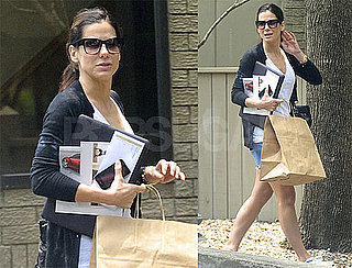 Pictures of Sandra Bullock Leaving Her Office in Texas