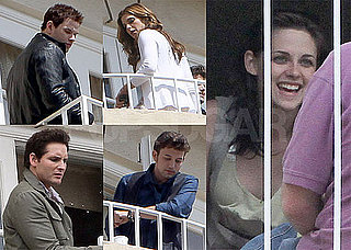 Pictures of Kristen Stewart, Kellan Lutz, Ashley Greene, Peter Facinelli, And Jackson Rathbone Taking Breaks at Eclipse Junket