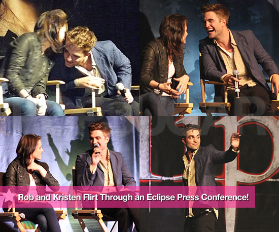 Pictures of Robert Pattinson And Kristen Stewart Together at an Eclipse Press Conference