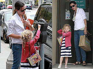 Pictures of Jennifer Garner and Violet Affleck Shopping in Santa Monica