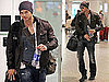 Pictures of Kellan Lutz at Airport in Canada