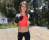 Slide Picture of Audrina Patridge Showing Stomach at Muscle Milk