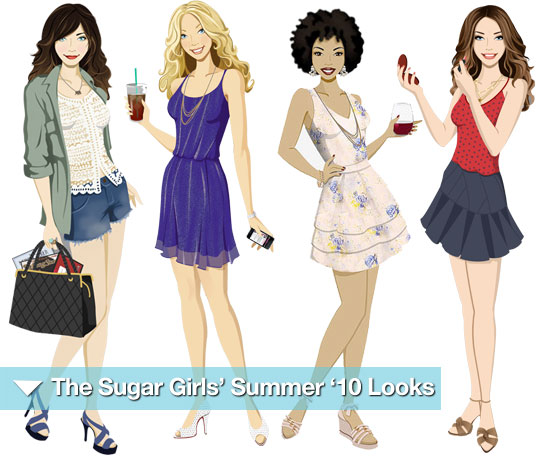 What They're Wearing: The Sugar Girls' Summer '10 Looks!