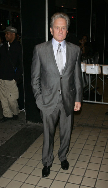 We rarely see Michael Douglas in anything but a suit, and good thing, because he looks so dapper in them.