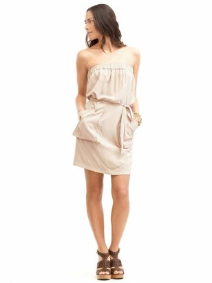 Banana Republic Silk Strapless Dress