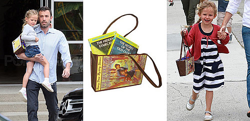 Pictures of Violet Affleck with Nancy Drew Bag