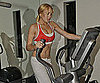 Slide Picture of Lindsay Lohan Working Out in Sports Bra on Treadmill