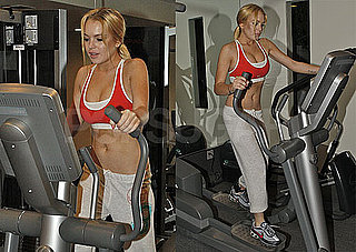 Pictures of Lindsay Lohan Working Out in a Sports Bra