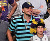 Slide Picture of Leonardo DiCaprio at Lakers Game
