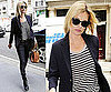 Photos of Kate Moss in London in Striped Tee and Skinny Jeans