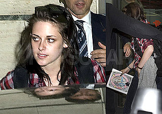 Pictures of Taylor Lautner and Kristen Stewart Leaving a Restaurant in Rome