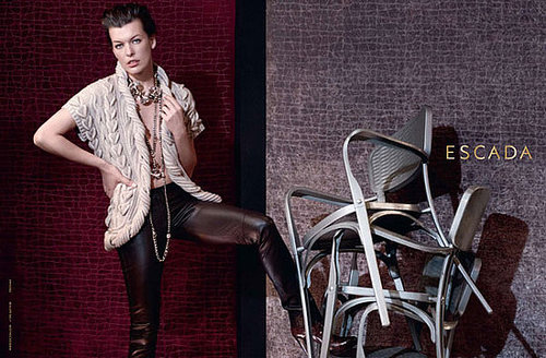 Milla Jovovich Shot by Peter Lindbergh for Escada