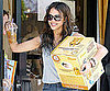 Slide Picture of Jessica Alba Carrying a Box to Her Car