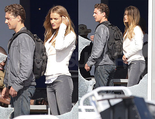 Pictures of Shia LaBeouf and Rosie Huntington-Whiteley Shooting Transformers 3 in LA 2010-06-21 11:00:00