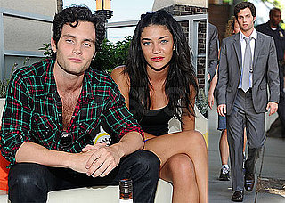 Pictures of Penn Badgley Partying With Jessica Szohr and Shooting With Paul Bettany