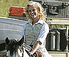 Slide Picture of Reese Witherspoon Riding Horse on Water For Elephants Set