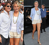 Photos of Cameron Diaz Wearing Chloe Sandals at Good Morning America