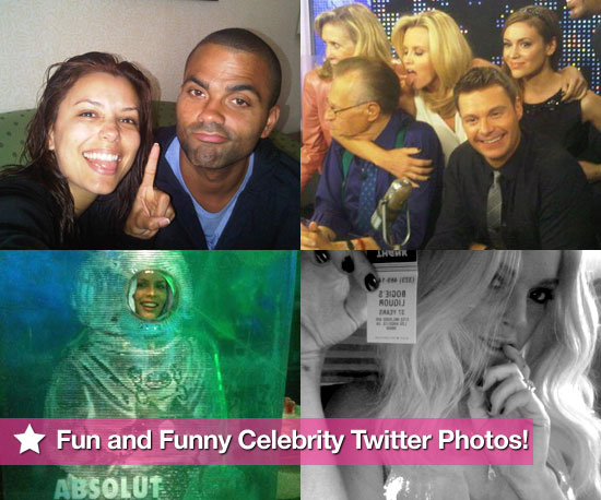 Ryan Seacrest, Eva Longoria, Busy Philipps, and Lindsay Lohan in This Week's Fun and Funny Celebrity Twitter Photos!
