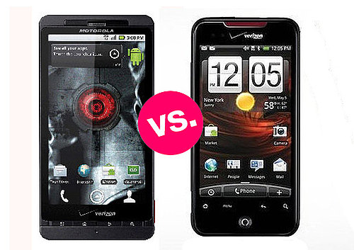Droid X vs Droid Incredible