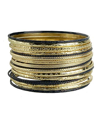 Forever 21 Textured Bangle Set ($6)