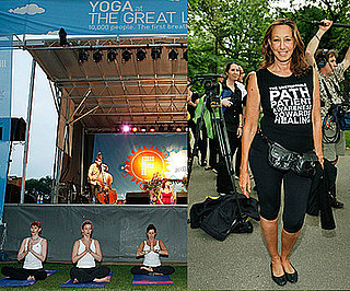 Donna Karan Attends World Record Yoga in the Park