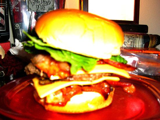Super late night  bacon cheeseburger