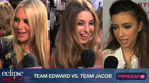Celebrity Team Edward Members and Celebrity Team Jacob Members
