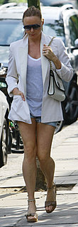 Stella McCartney Wears Jean Shorts and Blazer in London