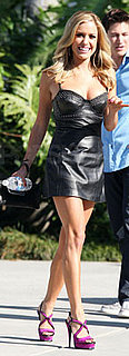 Kristin Cavallari Wears Leather Dress to Chelsea Lately