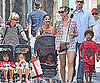 Slide Picture of Heidi Klum with Leni, Johan, Henry and Lou in New York