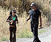 Slide Picture of Fergie and Josh Duhamel Running in LA