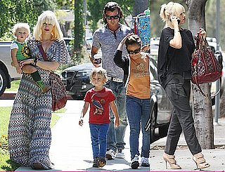 Pictures of Gwen Stefani, Gavin, Zuma, and Kingston Rossdale Arriving at a Party in LA