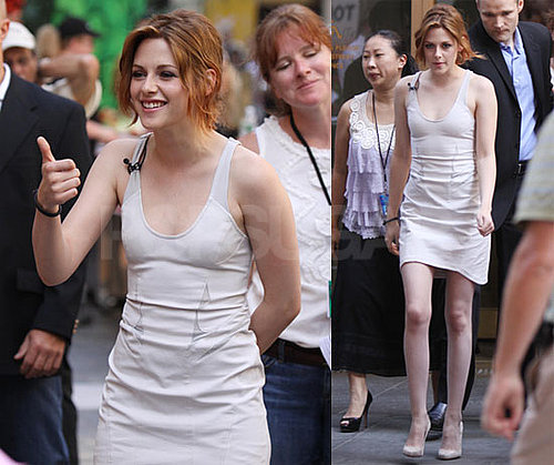 Pictures of Kristen Stewart at The Today Show and Regis and Kelly