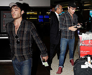 Pictures of Ed Westwick Arriving at the Sydney Airport