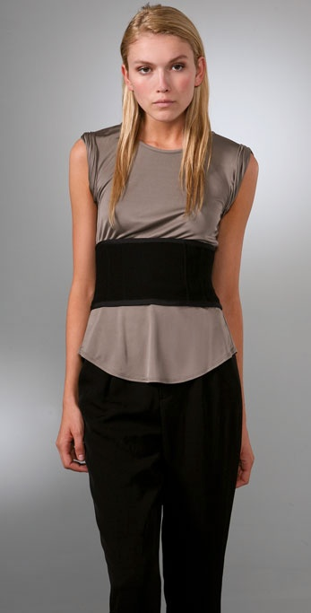 Alexander Wang Sleeveless Corset Top ($415)