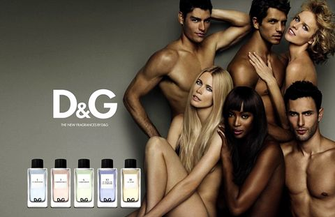 D&G Fragrance Anthology Advertisement with Claudia Schiffer, Naomi Campbell and Eva Herzigova