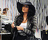 Slide Picture of Kim Kardashian Wearing a Large Hat at Intermix in NYC