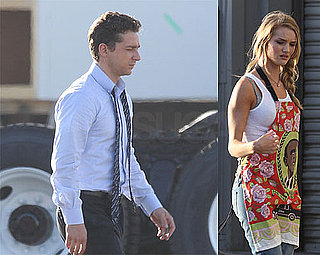Shia Suits Up on Set of Transformers 3 With Rosie Huntington-Whiteley